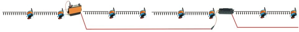 Layout of MCC5 cable sections